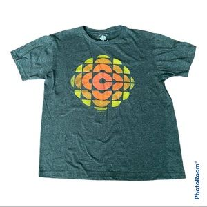 CBC Radio Canada Grey short sleeved T-shirt Size L